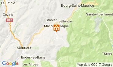 Mapa La Plagne Chalé 31596
