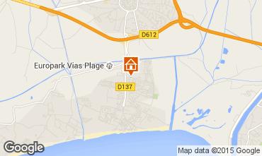 Mapa Vias Praia Mobil Home 54184