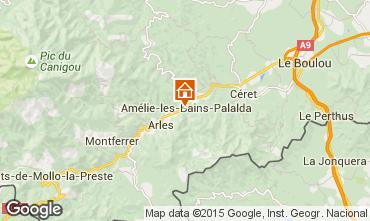 Mapa Am�lie-Les-Bains Est�dio 102121