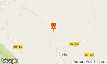 Mapa Auris en Oisans Apartamentos 63354