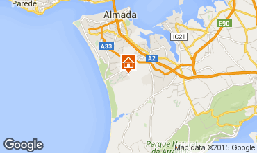 Mapa Costa de Caparica Apartamentos 97509