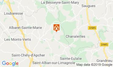 Mapa Marvejols Casa de turismo rural/Casa de campo 11874