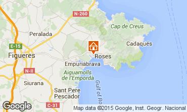 Mapa Rosas Apartamentos 72119