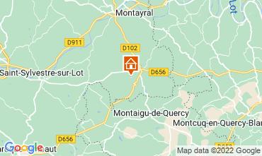 Mapa Penne d'Agenais Casa de turismo rural/Casa de campo 12564