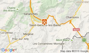 Mapa Saint Gervais Mont-Blanc Apartamentos 75938
