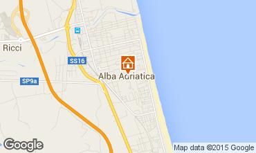 Mapa Alba Adriatica Apartamentos 40987