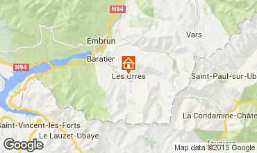 Mapa Les Orres Est�dio 80822