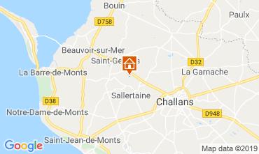 Mapa Saint Jean de Monts Casa de turismo rural/Casa de campo 93374