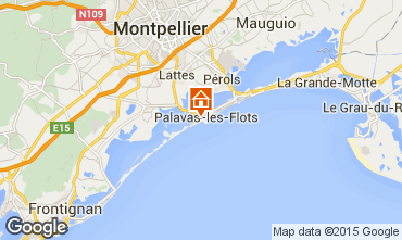 Mapa Palavas-les-Flots Apartamentos 85785