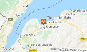 Mapa Thonon Les Bains Chalé 14972