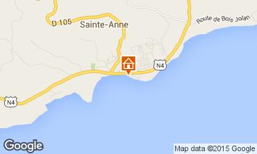 Mapa Sainte Anne (Guadalupe) Apartamentos 73786