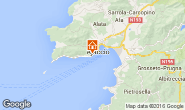 Mapa Ajaccio Apartamentos 79522