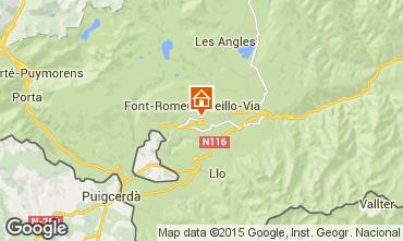 Mapa Font Romeu Apartamentos 80067