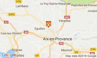 Mapa Aix en Provence Apartamentos 115648