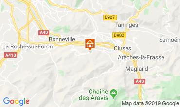 Mapa Mont Saxonnex Chalé 92047