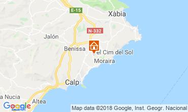 Mapa Moraira Casa 109614
