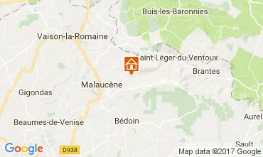 Mapa Beaumont du Ventoux Casa de turismo rural/Casa de campo 12501