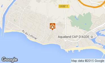 Mapa Cap d'Agde Mobil Home 16390