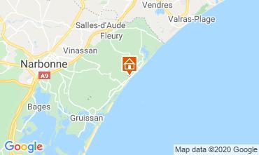 Mapa Narbonne praia Apartamentos 16430