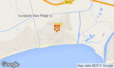 Mapa Vias Praia Mobil Home 86800
