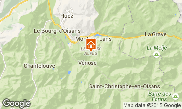 Mapa Les 2 Alpes Apartamentos 92550