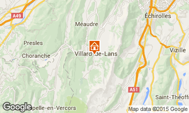 Mapa Villard de Lans - Corrençon en Vercors Apartamentos 57741