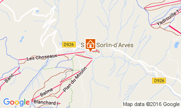 Mapa Saint Sorlin d'Arves Apartamentos 27289