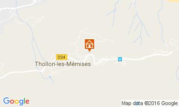 Mapa Thollon Les Mémises Apartamentos 106600
