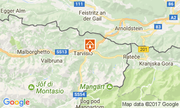 Mapa Tarvisio Chalé 111297