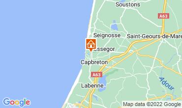 Mapa Hossegor Apartamentos 115520