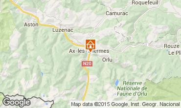 Mapa Ax Les Thermes Apartamentos 72066