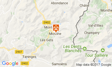 Mapa Morzine Chalé 112046