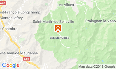 Mapa Les Menuires Chalé 100576