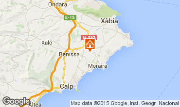Mapa Benissa Apartamentos 75593