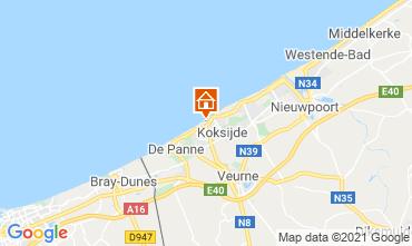 Mapa Koksijde Apartamentos 9565