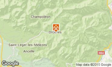 Mapa Orcières Merlette Casa de turismo rural/Casa de campo 74210
