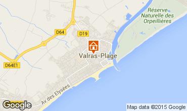 Mapa Valras-Praia Apartamentos 97095
