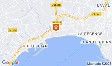 Mapa Juan les Pins Apartamentos 59593