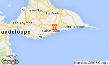 Mapa Sainte Anne (Guadalupe) Casa de turismo rural/Casa de campo 20729