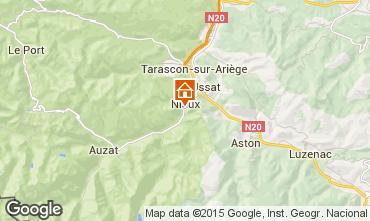 Mapa Ussat les Bains Casa de turismo rural/Casa de campo 3918