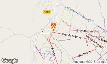 Mapa Valloire Apartamentos 73430