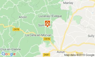 Mapa Autun Casa de turismo rural/Casa de campo 112322