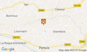 Mapa Lourmarin Casa de turismo rural/Casa de campo 119717