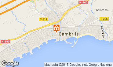 Mapa Cambrils Apartamentos 76333