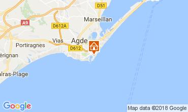 Mapa Cap d'Agde Apartamentos 112976