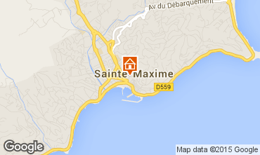Mapa Sainte Maxime Apartamentos 99907