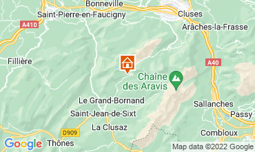 Mapa Le Grand Bornand Apartamentos 76154