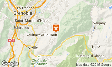 Mapa Chamrousse Apartamentos 754