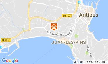 Mapa Juan les Pins Apartamentos 112158