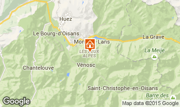 Mapa Les 2 Alpes Apartamentos 101179